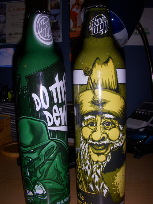 Cool Mountain Dew Cans